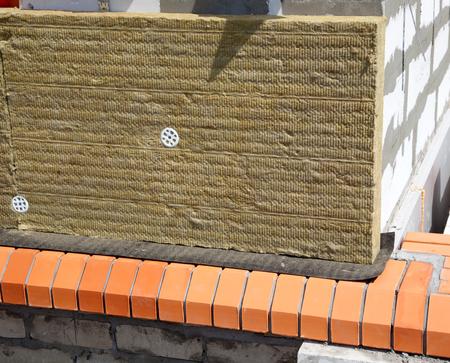 rockwool: Wall of Bricks and Insulation Wool