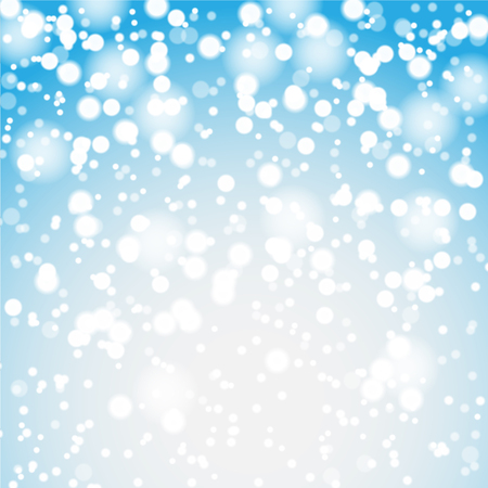 christmas blue: Falling snow and lights on the blue Christmas background. Illustration vector EPS10. Illustration