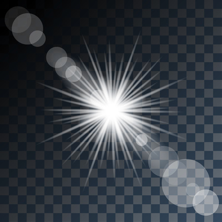 glowing star: Glowing Star and Light on Transparent Background.