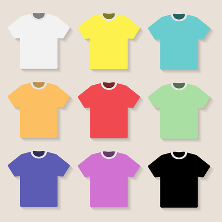 t background: Illustration of T shirt on a light background. Illustration