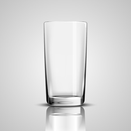 glass cup: Empty Drinking Glass Cup on White background. Illustration Icon .