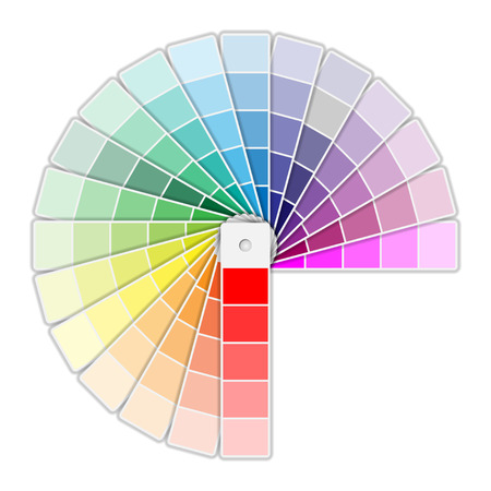 color palette: Color Palette Icon isolated on white background. Illustration