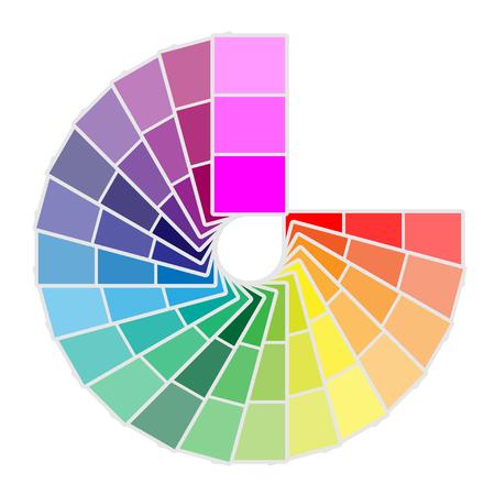カラー パレットのアイコンが白い背景に分離されました。ベクトル図