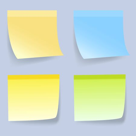 coloured background: Coloured Sticky Notes on gray background. Vector illustration.