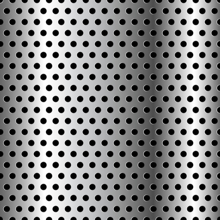 chrome metal: Seamless Chrome Grid Metal background. Illustration Vector. Illustration