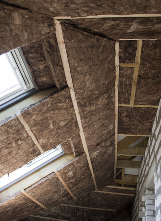glasswool: Thermal Insulation Glass Wool in the attic