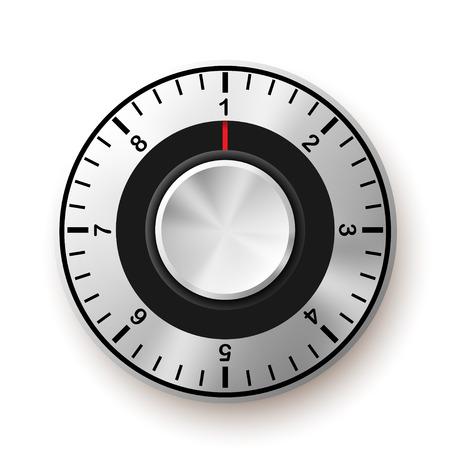 Sicherheitskonzept. Safe Dial Icon. Illustration vektor Illustration