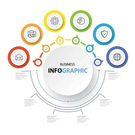 Abstract Circle Business options, Marketing. Concept Infographics icons for layout, diagram, annual report, web design.