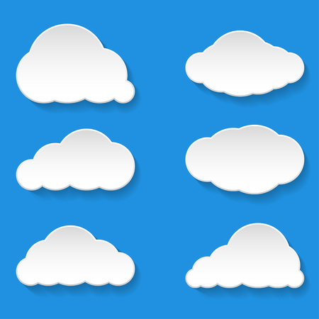 Messages Clouds Icon, Weather Symbols Illustration Vector.