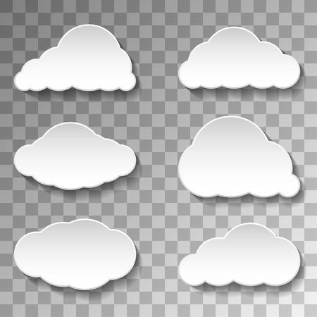Messages Clouds Icon on transparent background, Weather Symbols Illustration Vector. Illustration