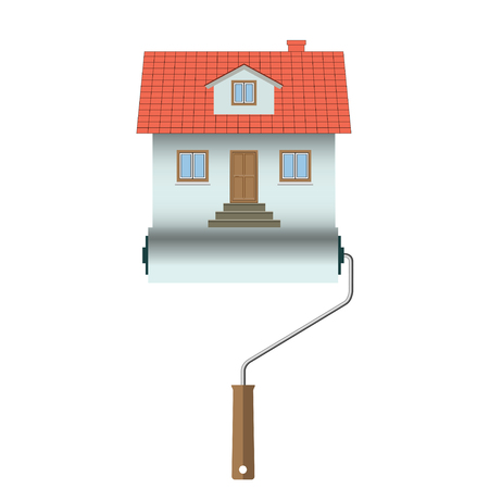 Home construction Vector House Icon Isolated on white background Illustration. Illustration