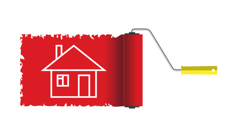 Icon Home construction Vector House Isolated on white background. Illustration