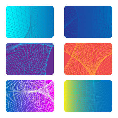 Covers Design Backgrounds for a Credit Card. Abstract Future Poster template. Vector Illustration. Illustration