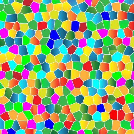 Glass Colorful Mosaic Abstract Background. Illustration Vector Illustration