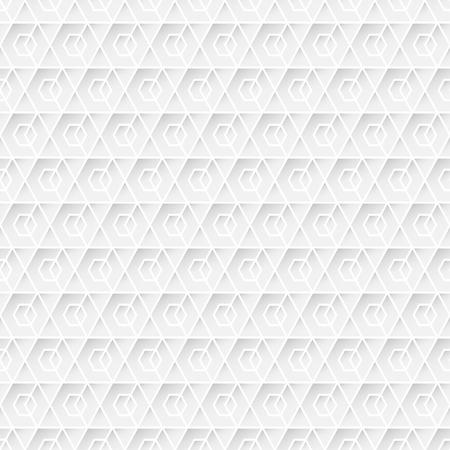 White Geometric Seamless Background Pattern. Illustration vector Illustration