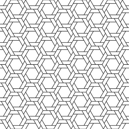 Line Geometric Seamless Background Pattern. Illustration vector