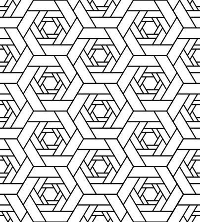 Linien-Polygon-geometrisches nahtloses Hintergrund-Muster. Illustrationsvektor