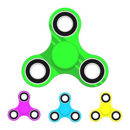 Zappeln Spinner, Spielzeug-Set-Symbol. Vektor-Illustration