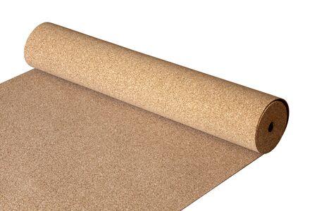 Lokalisierter natürlicher Korken auf dem Boden, ein Substrat für ein Laminat