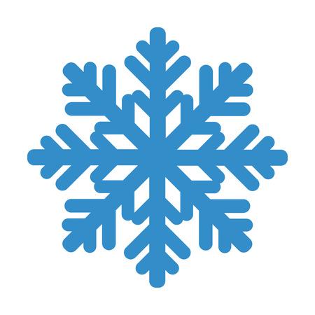 Snowflake isolated on white background. Vector illustration.