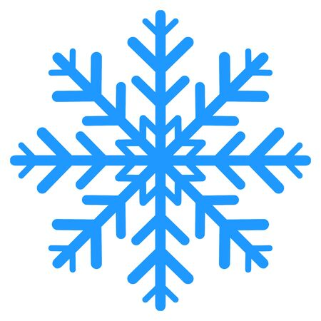 winter Snowflake isolated on white background. Vector illustration.