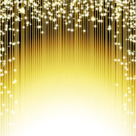 Brilliant Golden Background with shooting stars. Vector illustration
