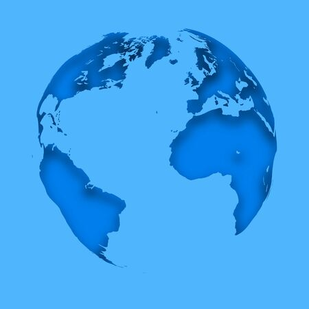 Map Planet Earth on a blue background. Abstract business Icon. Vector Illustration