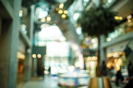 tiefe: Abstrakter Hintergrund der Shopping-Mall, flache Schärfentiefe Lizenzfreie Bilder