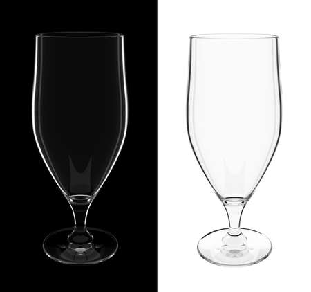 longer: An isolated empty longer cocktail glass on black and white backgrounds