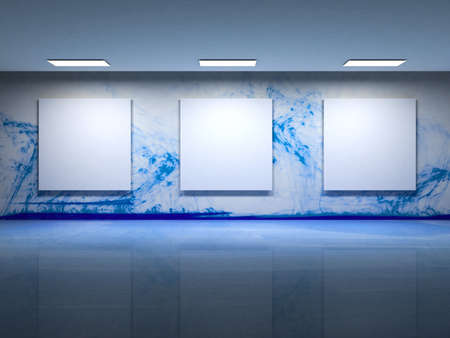 Contemporary art gallery interior photo