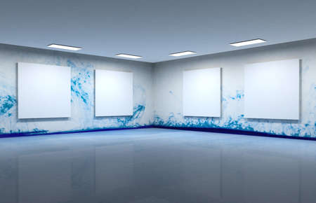 art gallery: Art gallery clear space Stock Photo
