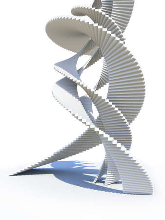 dynamic motion: Abstract staircase design Stock Photo