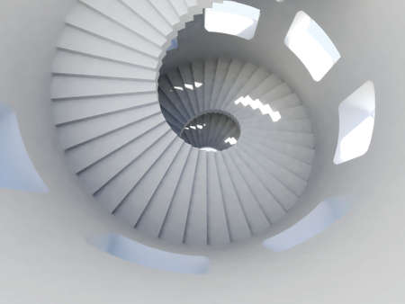 stone stairs: Way down inside of tallest tower ever