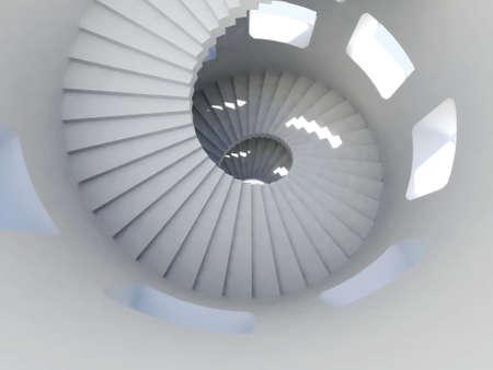 stair: Way down inside van de hoogste toren ooit