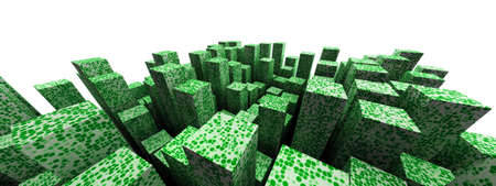 multitude: Green urban abstract backdrop