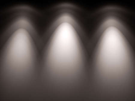 penumbra: High resolution spotlight lamps light-map. Just place it over wall Stock Photo