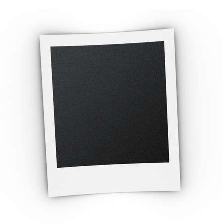 photo print template with shadow