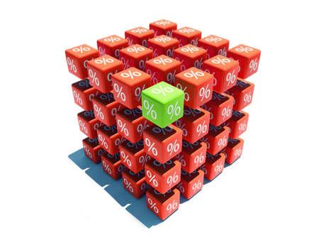 signos matematicos: Big por ciento de tasa de cubo con sombra