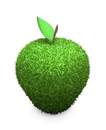 Green fluffy apple photo