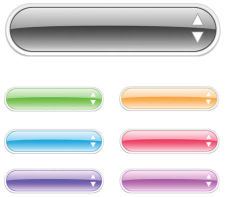 Set of web elements in  various colors Vector