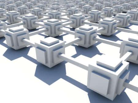 topology: White endless network