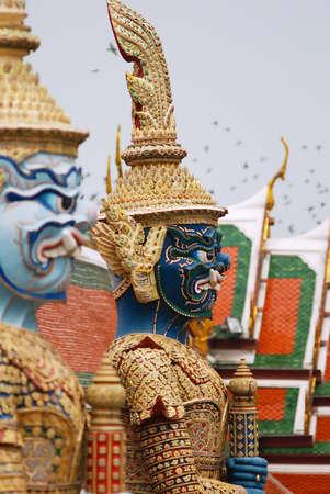daemon: Daemon statue in the Grand Palace, Bangkok, Thailand