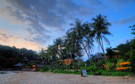 Sunset on Lanta island, Thailand  photo
