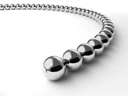 ball and chain: Curve made from metal shiny balls. For similar images please check my portfolio Stock Photo