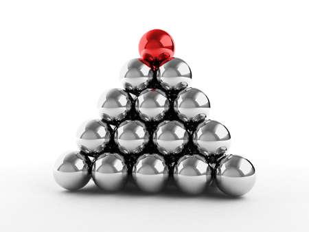jerarquia: Pir�mide de bolas de metales con diferente elemento superior. Para im�genes similares consulte mi cartera