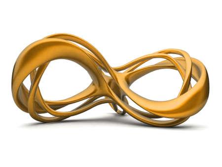 Futuristic orange 3d infinity sign illustration. For other colors please check my portfolio