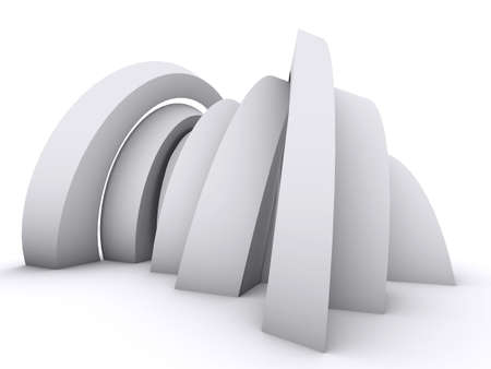 Arch composition on white Stock Photo