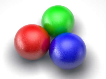 rgb: RGB balls isolated on white