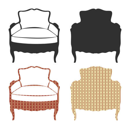 vintage furniture: Vintage armchair. Vector illustration