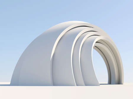 complicated: Arch isolated on sky blue background Stock Photo